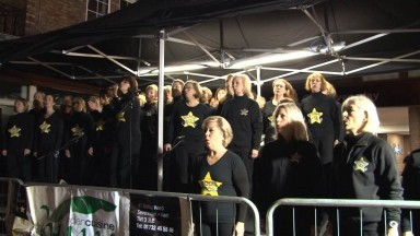 Rock Choir Sevenoaks Fireworks 2013 Livin' on a Prayer + Just the Way You Are
